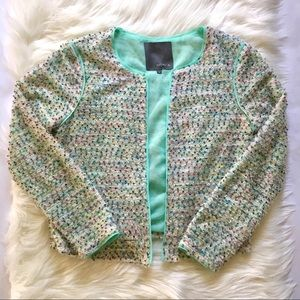 Matty M Colorful Boucle Jacket Size Medium